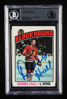 Dennis Hull Signed 1976-77 Topps #195 (BGS Encapsulated) at PristineAuction.com