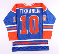 """Esa Tikkanen Signed Jersey Inscribed """"85 87 88 90 Cup"""" (Beckett COA) at PristineAuction.com"""