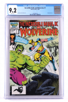 """Vintage 1986 """"Incredible Hulk and Wolverine"""" Issue #1 Marvel Comic Book (CGC 9.2) at PristineAuction.com"""