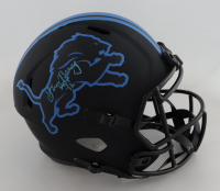 "Lem Barney Signed Lions Full-Size Eclipse Alternate Speed Helmet Inscribed ""HOF '92""  (Schwartz COA) at PristineAuction.com"