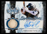 Fernando Tatis Jr. 2021 Leaf Lumber Signature Sticks Navy Blue #SSFT1 #2/3 at PristineAuction.com