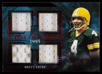 Brett Favre 2020 ITG Used Sports A Year to Remember Quad Memorabilia Red Spectrum #AYR06 #3/3 at PristineAuction.com