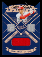 Shohei Ohtani 2019 Panini Leather and Lumber Leather and Lumber Triple Jersey Relics #LLT-SO at PristineAuction.com