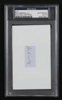 Muhammad Ali Signed 3x5 Cut (PSA Encapsulated) (See Description) at PristineAuction.com