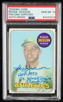 """Reggie Jackson Signed 1969 Topps #260 RC Inscribed """"HOF 1993"""" & """"5x World Series Champion"""" (PSA Encapsulated) at PristineAuction.com"""