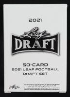 2021 Leaf Draft Complete Set of (50) Football Cards with #1 Trevor Lawerence, #2 Justin Fields, #3 Zach Wilson, #4 Trey Lance, #5 Kyle Trask at PristineAuction.com
