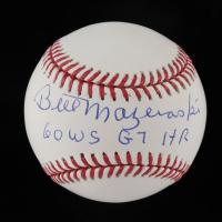 "Bill Mazeroski Signed OML Baseball Inscribed ""60 WS G7 HR"" (Beckett Hologram) at PristineAuction.com"