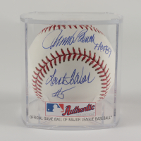 """Johnny Bench Signed OML Baseball Inscribed """"HOF 89"""" """"Last to Wear #5"""" With Display Case (Beckett Hologram) (See Description) at PristineAuction.com"""