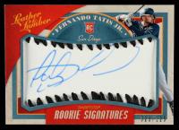 Fernando Tatis Jr. 2019 Panini Leather & Lumber Rookie Baseball Signature Black #140 #25/125 at PristineAuction.com
