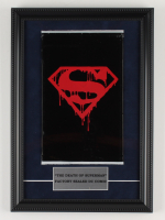 """Vintage 1992 """"The Death of Superman"""" Memorial Issue #75 DC 12x17 Custom Framed Comic Book Display (See Description) at PristineAuction.com"""