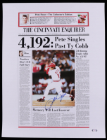 Pete Rose Signed 19x25 News Article Print (PSA Hologram) at PristineAuction.com