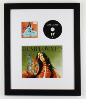 """Demi Lovato Signed 18.5x22.5 Custom Framed """"Dancing With The Devil... The Art of Starting Over"""" Album Photo Display with CD (ACOA COA) at PristineAuction.com"""
