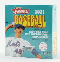 2021 Topps Heritage Baseball Mega Box with (15) Packs at PristineAuction.com