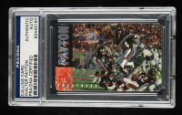 Walter Payton Signed Bears 1995 Super Bowl XX Champions 10th Anniversary Calling Card (PSA Encapsulated) at PristineAuction.com