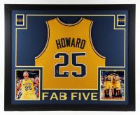 Juwan Howard Signed 35x43 Custom Framed Jersey Display (Beckett Hologram) at PristineAuction.com