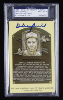Dave Winfield Signed Hall of Fame Plaque Postcard (PSA Encapsulated) at PristineAuction.com