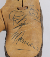 """Rocky Marciano Signed Mini Boxing Gloves Inscribed """"Best Wishes"""" with Display Case (JSA LOA) at PristineAuction.com"""