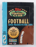 1993 Topps Stadium Club Series 2 Football Hobby Box with (24) Packs at PristineAuction.com