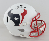 Andre Johnson Signed Texans Full-Size Matte White Speed Helmet (Fanatics Hologram) at PristineAuction.com