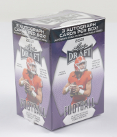 2021 Leaf Draft Football Hobby Blaster Box with (50) Cards at PristineAuction.com