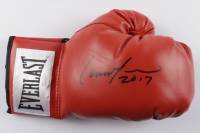 """Lennox Lewis Signed Boxing Glove Inscribed """"2017"""" (JSA COA) at PristineAuction.com"""