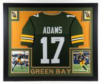 Davante Adams Signed 35x43 Custom Framed Jersey Display (Beckett COA) at PristineAuction.com