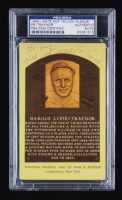 """Pie Traynor Dual-Signed Hall of Fame Plaque Postcard Inscribed """"With Best Regards"""" (PSA Encapsulated) at PristineAuction.com"""