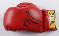 """Max Schmeling Signed Everlast Boxing Glove Iscribed """"All Good Wishes From"""" & """"1990"""" (PSA COA) at PristineAuction.com"""