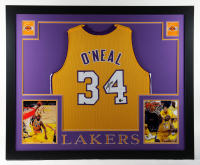 Shaquille O'Neal Signed 35x43 Custom Framed Jersey Display (Beckett Hologram) at PristineAuction.com