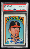 Nolan Ryan Signed 1972 Topps #595 With Multiple Inscriptions (PSA Encapsulated) at PristineAuction.com