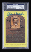 Stan Musial Signed Hall of Fame Plaque Postcard (PSA Encapsulated) at PristineAuction.com