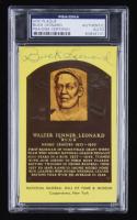 Buck Leonard Signed Hall of Fame Plaque Postcard (PSA Encapsulated) at PristineAuction.com