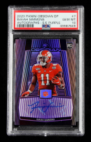 Isaiah Simmons 2020 Panini Obsidian Draft Picks Autographs Electric Etch Purple #7 #01/25 (PSA 10) at PristineAuction.com