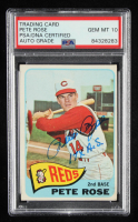 """Pete Rose Signed 1965 Topps #207 Inscribed """"17x A.S."""" (PSA Encapsulated) at PristineAuction.com"""