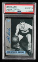 John Wooden Signed 1991 Wooden Award Winners #3 Purdue (PSA Encapsulated) at PristineAuction.com