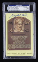 Gaylord Perry Signed Hall of Fame Plaque Postcard (PSA Encapsulated) at PristineAuction.com