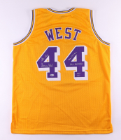 Jerry West Signed Jersey with Multiple Inscriptions (Beckett Hologram) at PristineAuction.com