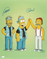 """Tommy Chong & Cheech Marin Signed """"The Simpsons"""" 16x20 Photo (JSA COA) at PristineAuction.com"""