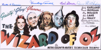 """""""The Wizard of Oz"""" 11x17 Photo Cast-Signed by (4) with Karl Slover, Mickey Carroll, Donna Stewart-Hardaway (JSA COA) at PristineAuction.com"""