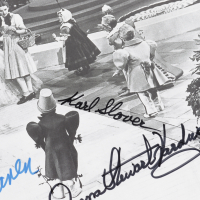 """""""The Wizard of Oz"""" 11x14 Photo Cast-Signed by (4) with Karl Slover, Mickey Carroll, Donna Stewart-Hardaway (JSA COA) at PristineAuction.com"""