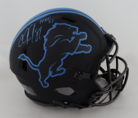 """Calvin Johnson Signed Lions Full-Size Authentic On-Field Eclipse Alternate Speed Helmet Inscribed """"HOF 21"""" (JSA COA) (See Description) at PristineAuction.com"""