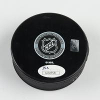 Anders Nilsson Signed Canucks Logo Hockey Puck (JSA COA) at PristineAuction.com