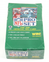 1990 NFL Pro Set Series 1 Football Wax Box of (36) Packs (See Description) at PristineAuction.com