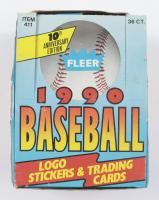 1990 Fleer Baseball Wax Box of (36) Packs (See Description) at PristineAuction.com