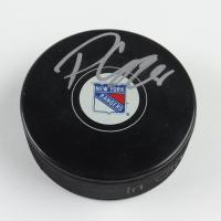 Paul Carey Signed Rangers Logo Hockey Puck (JSA COA) at PristineAuction.com