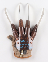 """Robert Englund Signed """"A Nightmare on Elm Street"""" Freddy Krueger Replica Glove Inscribed """"This Is God"""" & """"Freddy K"""" (JSA COA) at PristineAuction.com"""