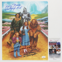 """Karl Slover, Mickey Carroll, & Jerry Maren Signed """"The Wizard of Oz"""" 11x14 Photo with (3) Character Inscriptions (JSA COA) at PristineAuction.com"""