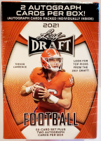 2021 Leaf Draft Football Trading Cards Blaster Box with (52) Cards at PristineAuction.com