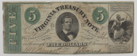 1869 $5 Five Dollars - Virginia Treasury Note - Richmond, VA (See Description) at PristineAuction.com