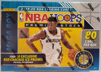 2019-20 Panini Hoops Premium Stock Inaugural Edition Trading Cards Mega Box With (10) Packs at PristineAuction.com
